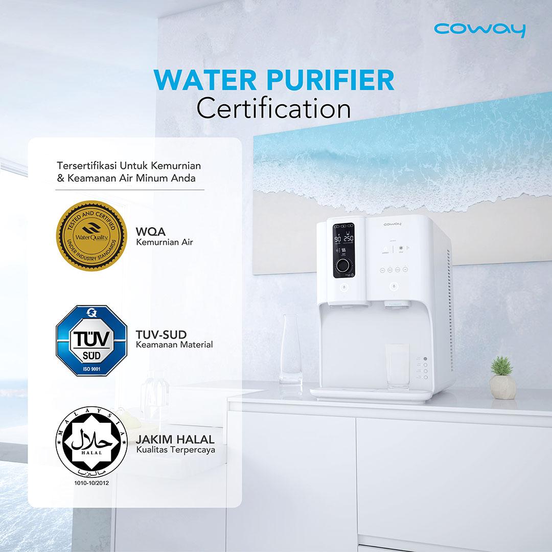 water purifier sertifikasi