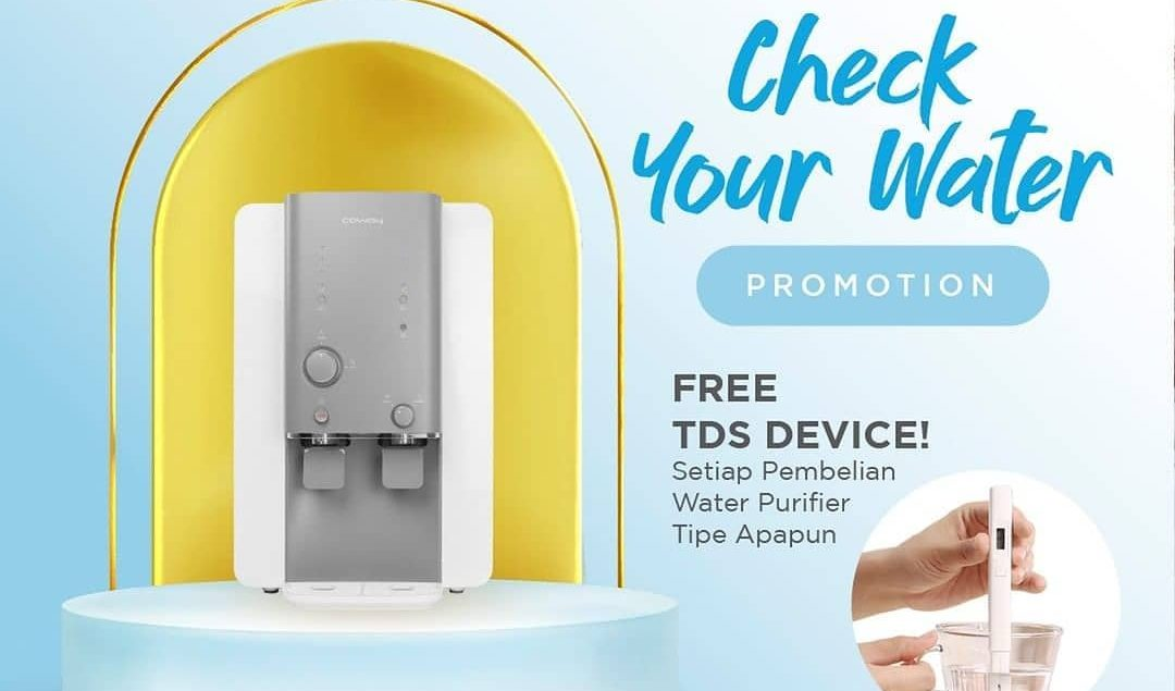 Beli Water Purifier Coway dapat alat TDS! Kamu bisa cek sendiri kualitas air minum kamu yang dihasil...