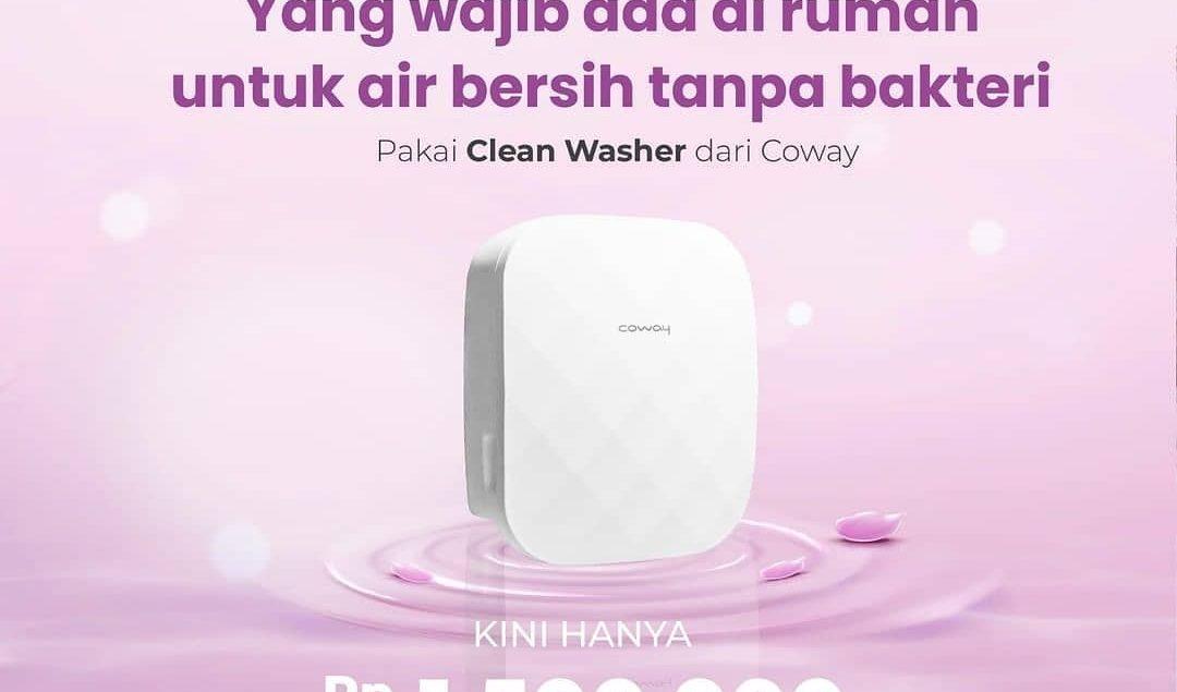 Dapatkan potongan Rp500.000 untuk BD01 Clean Washer! Wajib punya ini ya di rumah, biar air tetap ama...