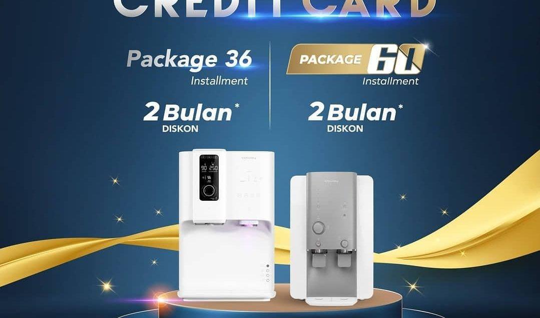 Penawaran khusus bagi pengguna kartu kredit, dapatkan potongan 2 bulan cicilan untuk pembelian packa...