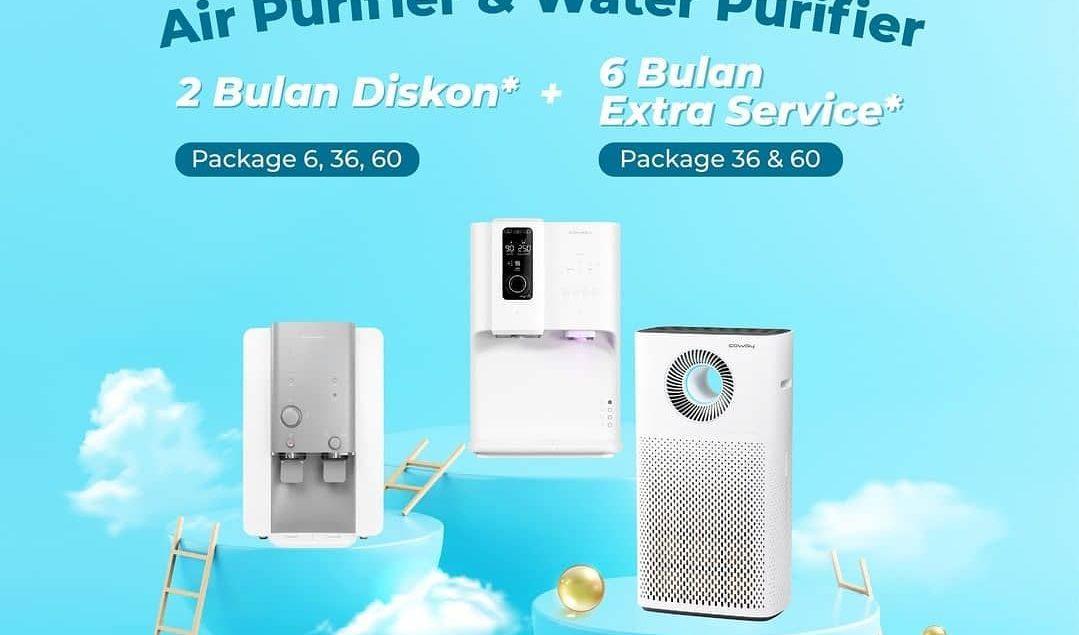 Promo istimewa buat kamu yang ingin memiliki Water Purifier atau Air Purifier dari Coway. Kamu bisa ...