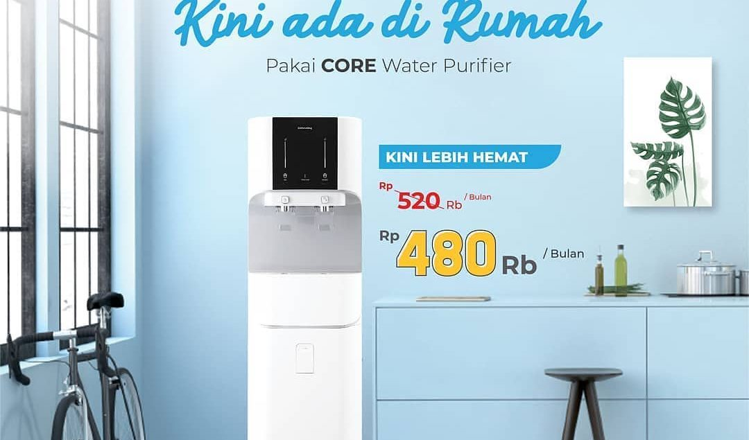 Sekarang lebih hemat dengan CORE Water Purifier, cicilan ringan hanya Rp480.000 / bulan kamu tidak p...