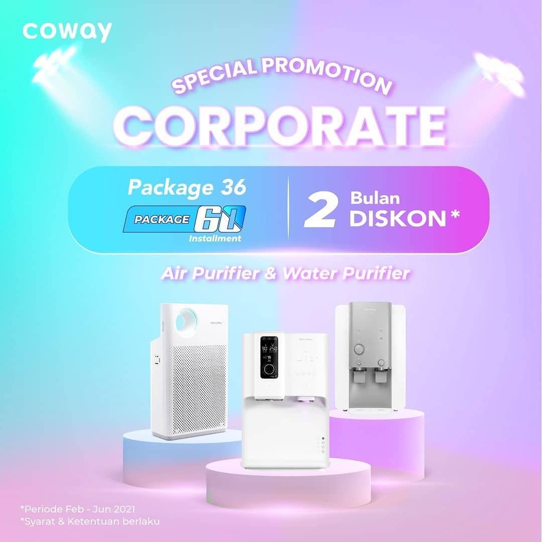 Coway Jakarta - Special Offer for Corporate Dapatkan potongan cicilan hingga 2 bulan