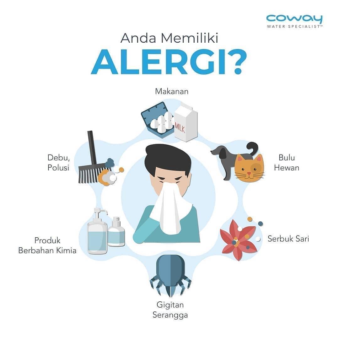 Coway Jakarta - Alergi dapat timbul karena beberapa faktor salah satunya kualitas udara