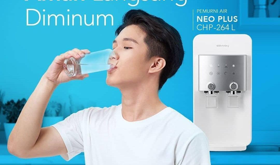 Biar badan terhidrasi dengan baik, air yang kita minum harus murni dan aman untuk tubuh. Coway NeoPl...
