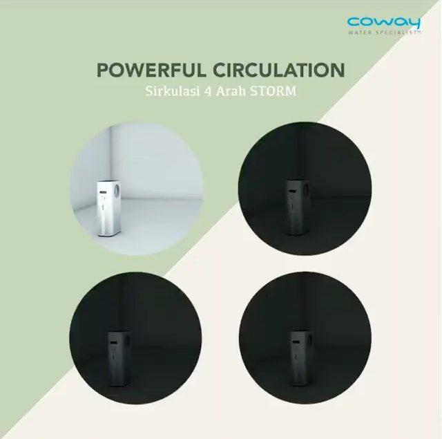 COWAY STROM dilengkapi dengan powerful circulation 4 arah, yang mampu disesuaikan dengan keadaan lin...