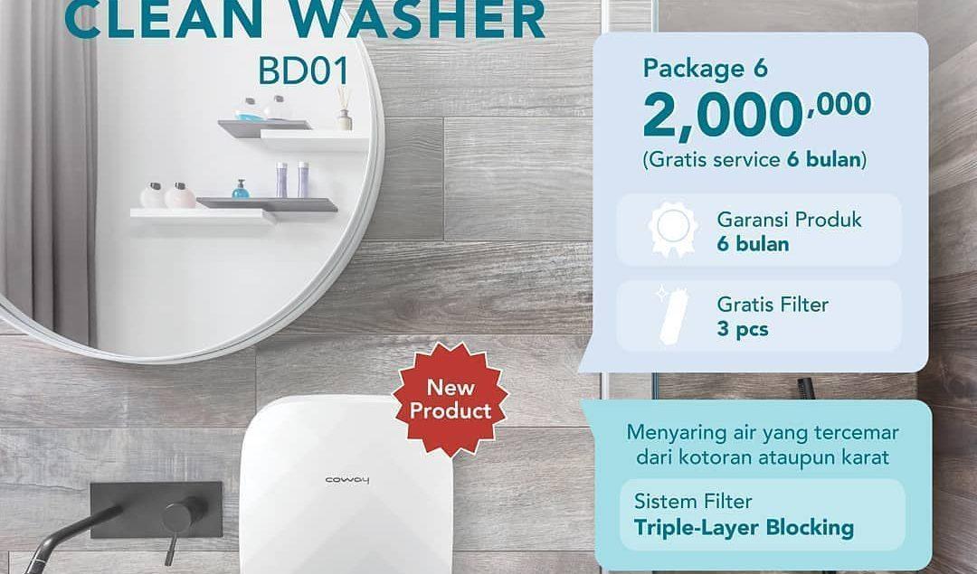 Clean Washer BD01 memberikan proteksi kualitas air yang kamu pakai dari sumber air yang ada agar beb...