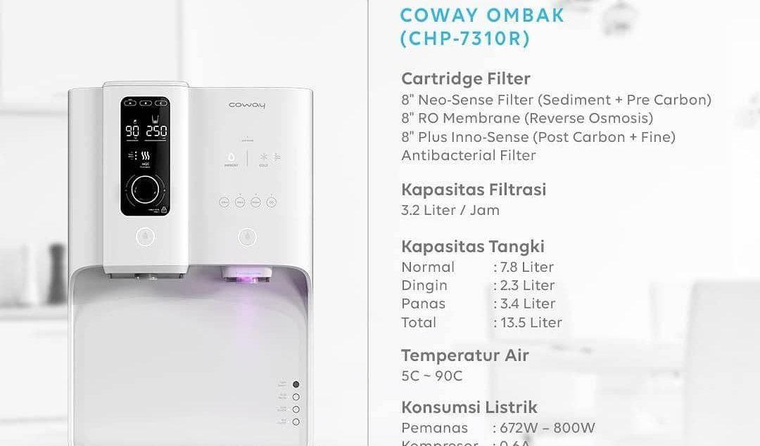 Daripada ribet mencari air bersih untuk minum, lebih baik gunakan Ombak water purifier.  Kamu bisa m...