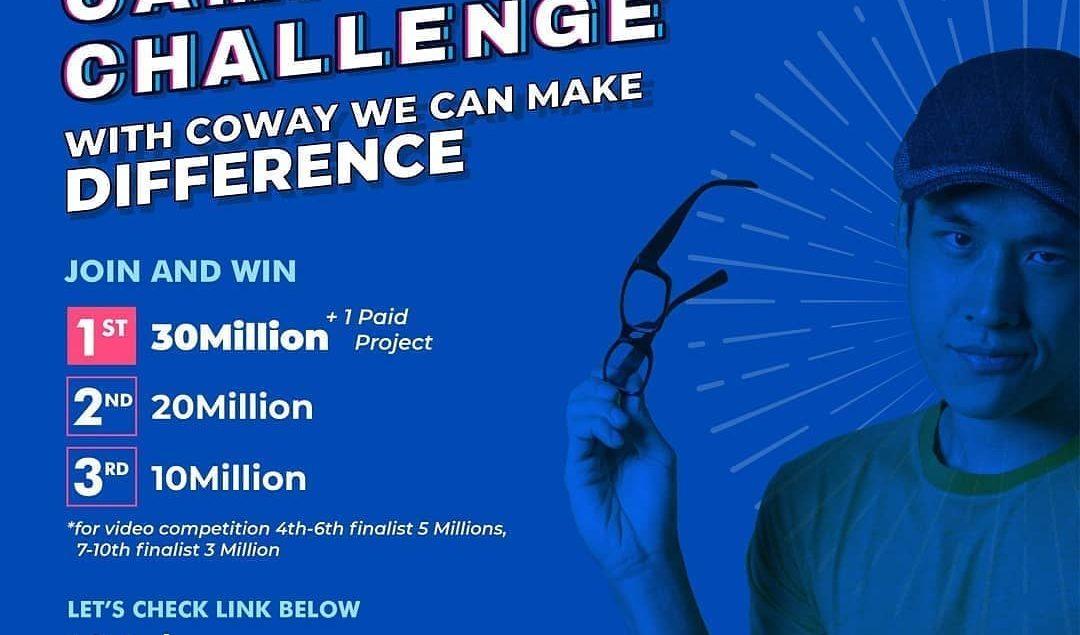 Di rumah aja? Yuk produktif berkarya dan menangkan hadiah puluhan juta bersama Coway Campus Challeng...