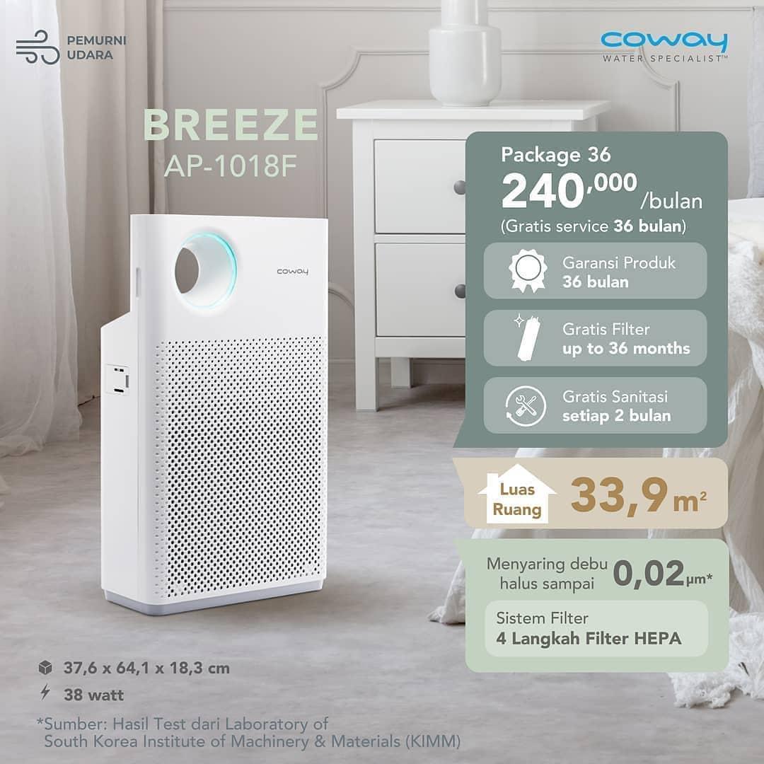 Coway Jakarta - Kualitas udara yang kamu hirup menentukan kualitas hidupmu BREEZE Air
