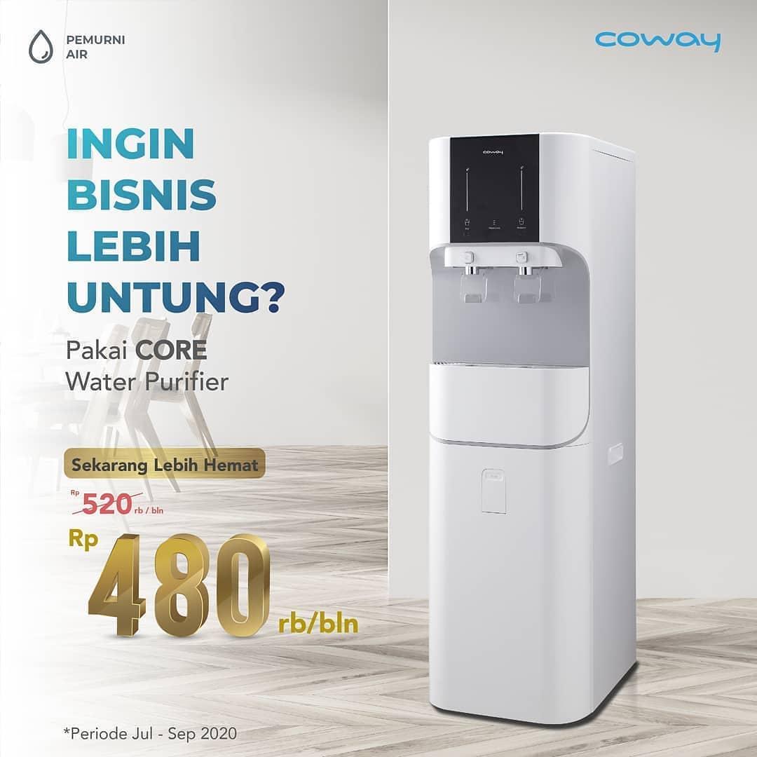 Coway Jakarta - Sekarang dengan hanya Rp480rbbln kamu bisa dapat CORE Water Purifier