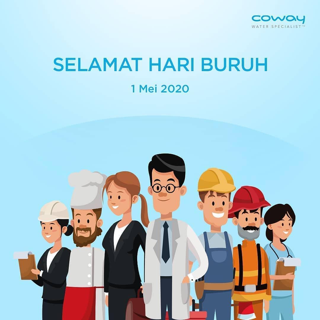 Coway Jakarta - Selamat hari buruh internasional Meskipun bekerja dari rumah terlebih harus
