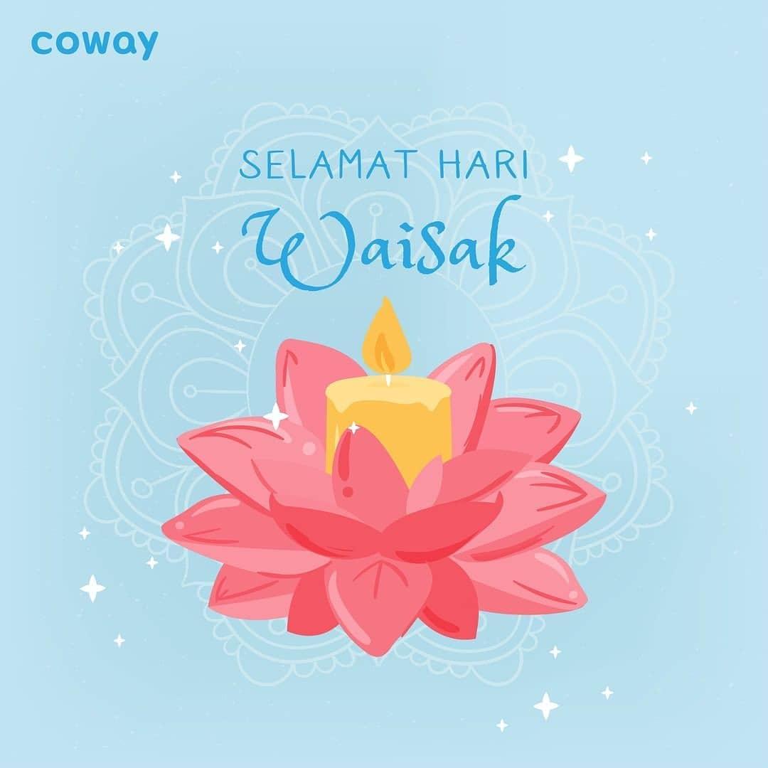Coway Jakarta - Happy Vesak day Coway People  Waisak menggambarkan Trisuci Waisak