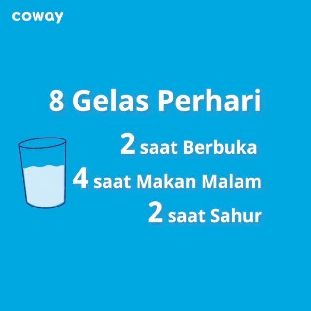 Coway Jakarta - Sahur apa tadi pagi Jangan lupa minum air yang cukup