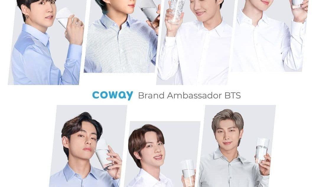 Makin segar ya lihat member BTS minum air jernih dari Coway water purifier. BTS sebagai Brand Ambass...