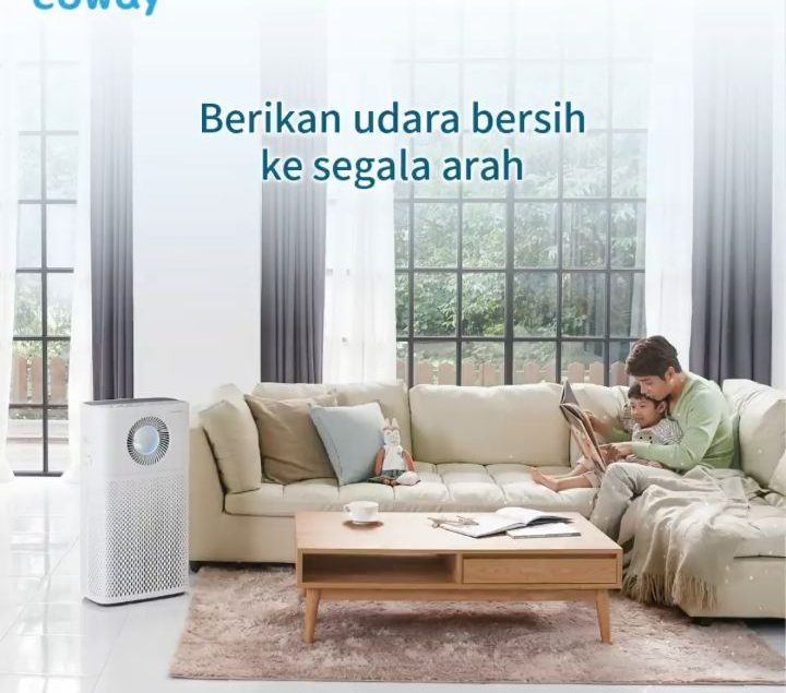 Mengurangi rasa khawatir dari kualitas udara yang buruk di dalam rumah, Coway People bisa menjatuhka...