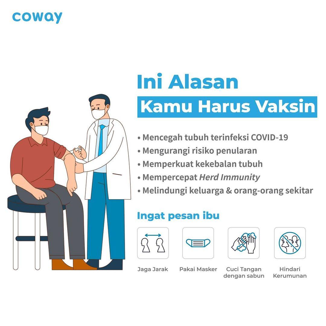 Coway Jakarta - 1625607596 716 Hai Coway People Masih bingung mengapa kamu harus melakukan vaksinasi