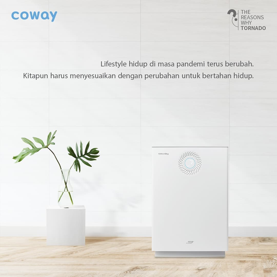 Coway Jakarta - 1629000934 627 Air Purifier dengan 6 tahap sistem HEPA Filter dilengkapi teknologi