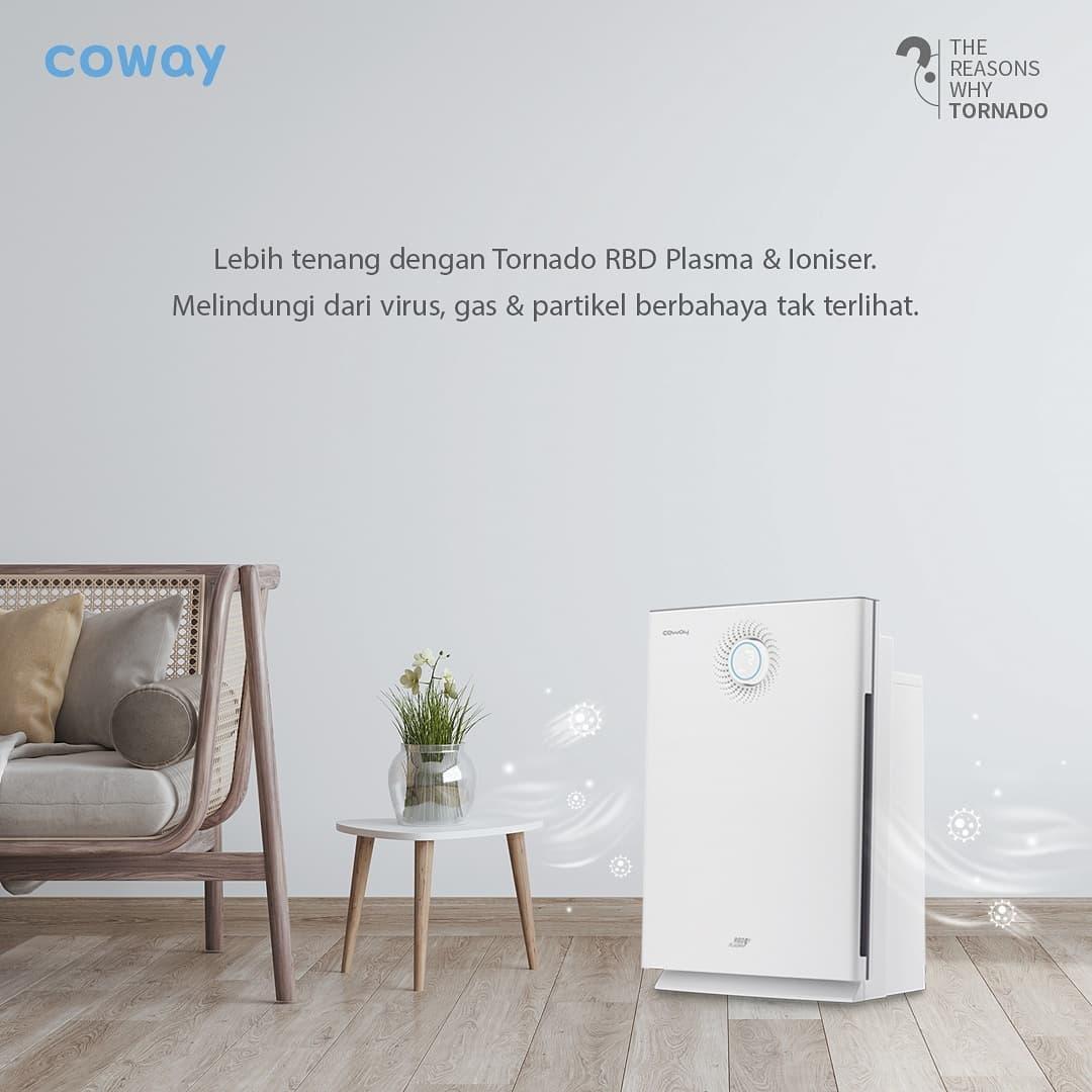 Coway Jakarta - 1629000935 201 Air Purifier dengan 6 tahap sistem HEPA Filter dilengkapi teknologi