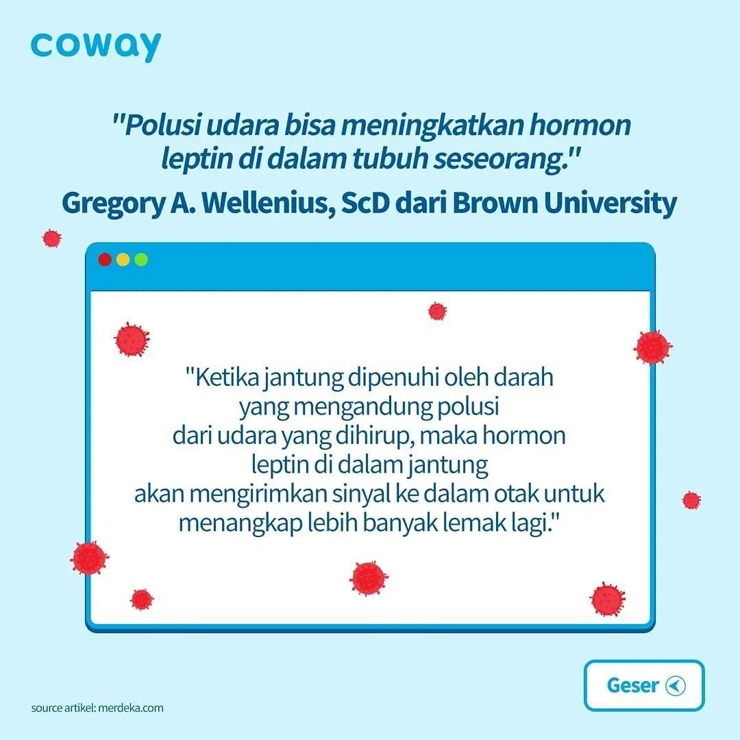 Coway Jakarta - 1631520974 731 Ada berbagai efek yang kurang baik dari polusi udara Sebuah