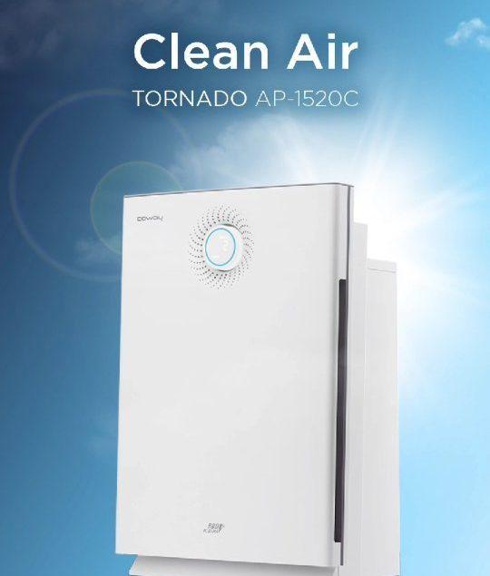 Ceria setiap hari dengan Coway! Nyalakan Air purifier Tornado, rasakan udara bersih dan nyaman sepan...
