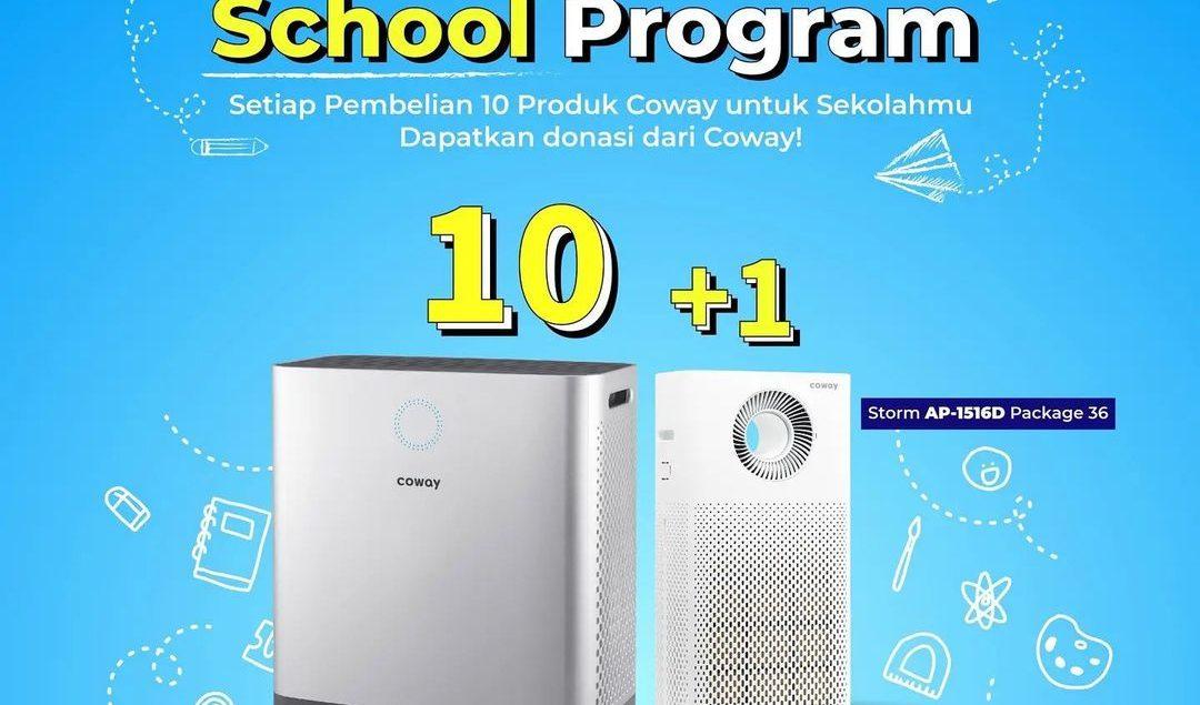 Clean Air School Program!  Coway peduli lingkungan bersih, kembali lagi! Dalam rangka meningkatkan a...