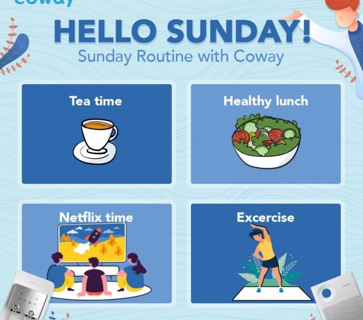Hello Sunday! Akhirnya bisa beristirahat dari kesibukan di luar. Yuk lakukan rutinitas minggu ini~ J...