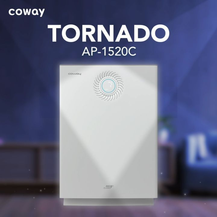 Coway Jakarta - Tornado Air Purifier memiliki indikator PM25 dan bau sehingga kamu